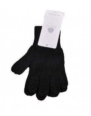 Baby Pure Wool Hand Gloves Plain Dark Grey