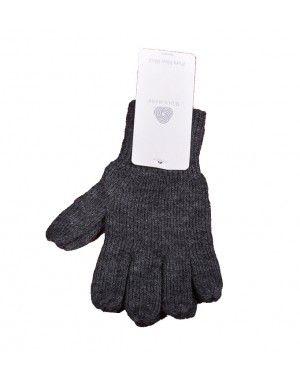 Baby Pure Wool Hand Gloves Plain Dark Grey