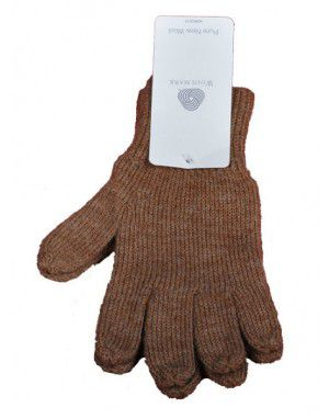 Baby Pure Wool Hand Gloves Plain Light Brown