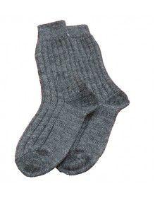 Kids DGrey Pure Wool Socks P3
