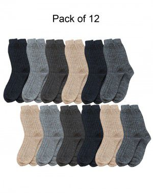 Kids Pure Wool Socks Selection P12