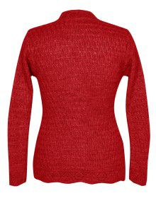 Lady Cardigan Full sleeves red