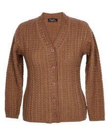 Lady Cardigan Full sleeves D.brown