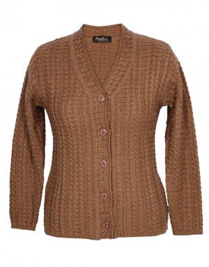 Lady Cardigan Full sleeves D.brown