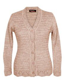 Lady Cardigan Full sleeves cream