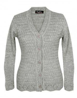 Lady Cardigan Full sleeves grey
