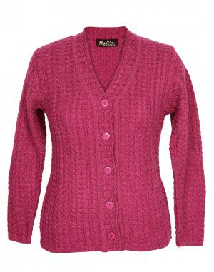 Lady Cardigan Full sleeves Pink