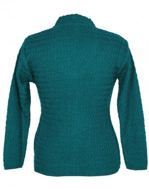 Ladies Cardigan Green color design