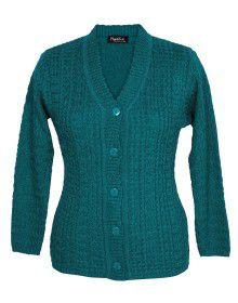 Ladies Cardigan Green color design