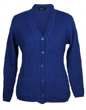Lady Cardigan Pocket FS blue