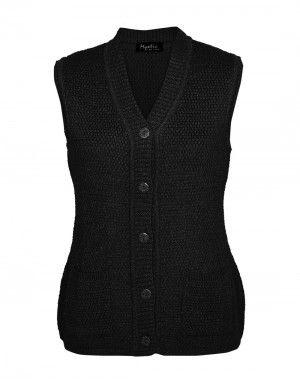 Lady Cardigan Pocket SL blk