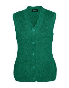 Lady Cardigan Pocket SL green
