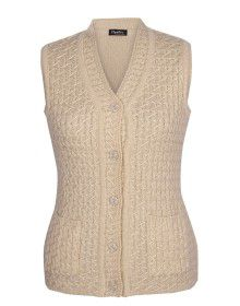 Lady Cardigan Pocket SL Light cream