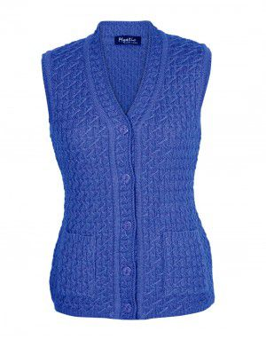 Lady Cardigan Pocket SL blue