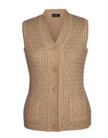 Lady Cardigan Pocket SL Brown