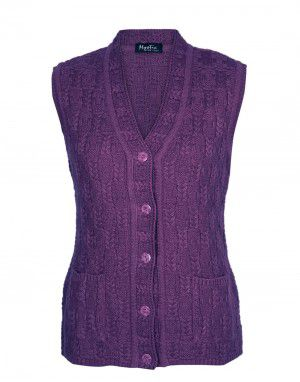 Lady Cardigan Pocket SL Purple