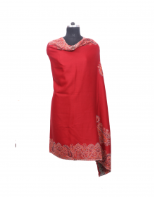 Women Shawls full flower design maroon