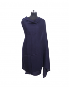 Women Shawls plain design Navy
