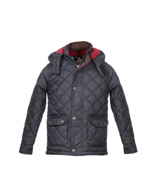 Boys Jacket Black Basic Quilted
