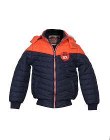 Boys Jacket Orange Quilted