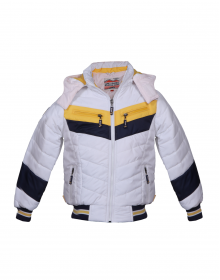 Boys Jacket White Sporty Quilted