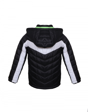 Boys Jacket Black Quilted Sporty