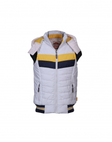 Baby Boy Jacket White Sporty sl Quilted