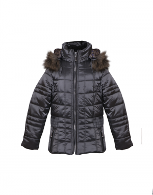 Girls Jacket Silver Grey Quilted Designer