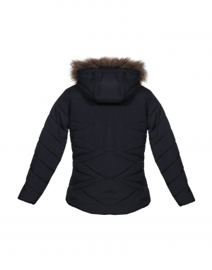 Girls Jacket Black Quilted