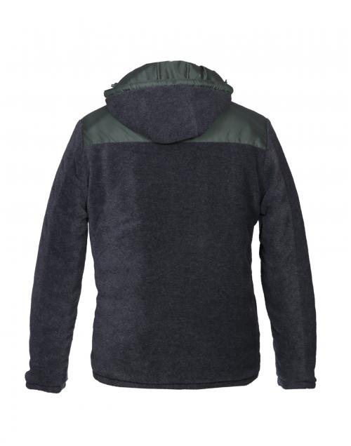 Men Jacket Olive Quilted Reversible