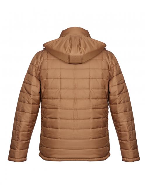 Men Jacket Tan Quilted Reversible