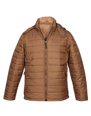 Men Jacket Tan Quilted Reversible