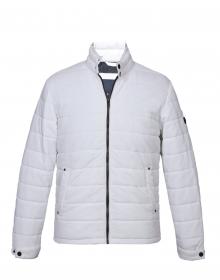 Men Jacket White Quilted Basic