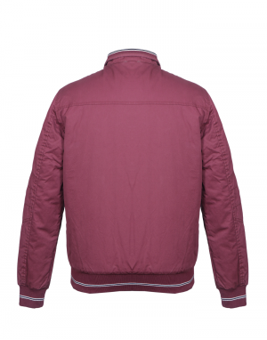 Men Jacket Wine Basic Light Weight