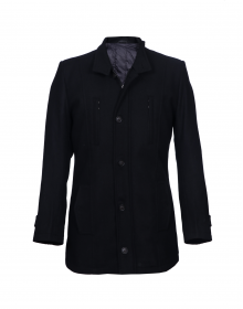 Men Coat Black Basic