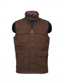 Men Jacket sl Brown Reversible Print