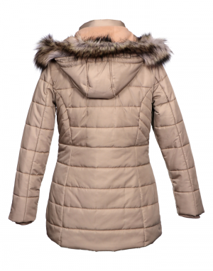 Womens Jacket Beige Quilted Basic