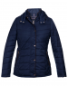Womens Jacket Navy Basic Quilted