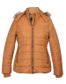 Womens Jacket Tan Quilted Basic