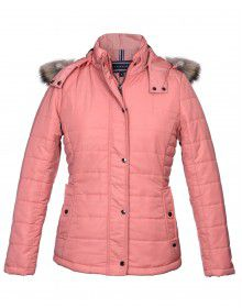 Womens Jacket Apricot Basic Quilted