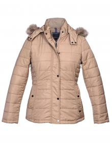 Womens Jacket Beige Basic Quilted