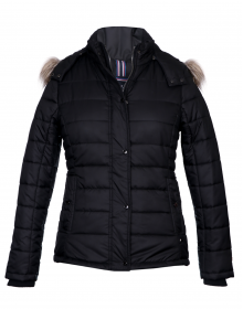 Womens Jacket Black Quilted