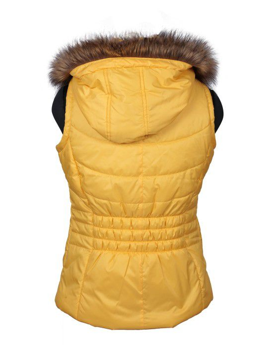 Girls SL Quilted Jacket Yellow