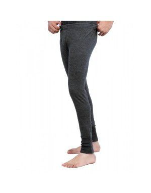 Merino Wool Plus size Mens Long John Dark Grey