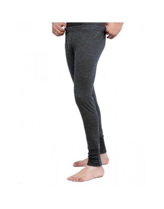 Merino Wool Plus size Mens Long John Dark Grey