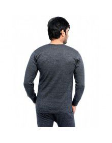 Mens Plus size merino wool FS Vest Dark Grey