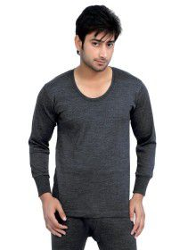 Mens Plus size merino wool FS Vest Dark Grey