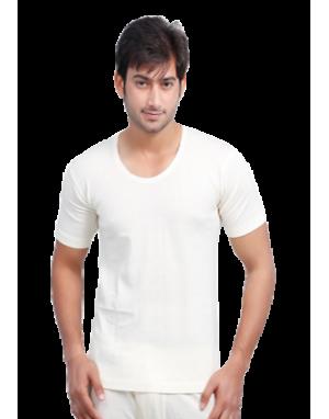 Mens Pure Wool HS body warmer Plus Size Cream