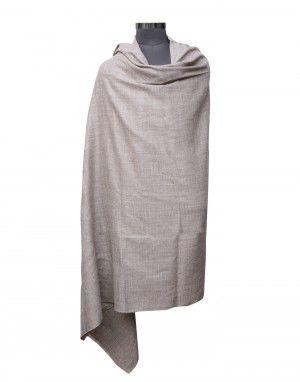 Men pure wool lohi plain brown