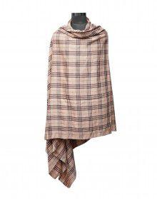Men wool blend lohi brown check